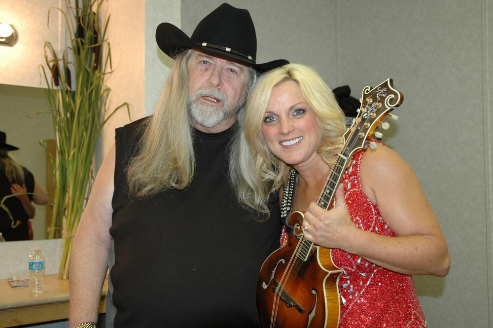 2012 - Blueberry President Norm Sliter with Rhonda Vincent