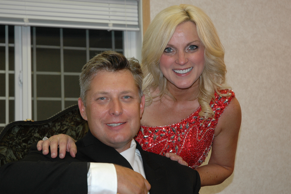 2012 - Leigh Gibson (Gibson Brothers) with Rhonda Vincent
