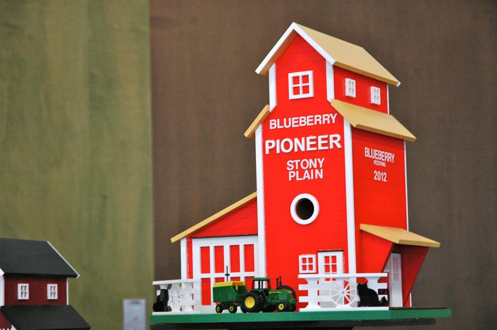 "2012 - Handmade ""Blueberry Festival Edition"" grain elevator"