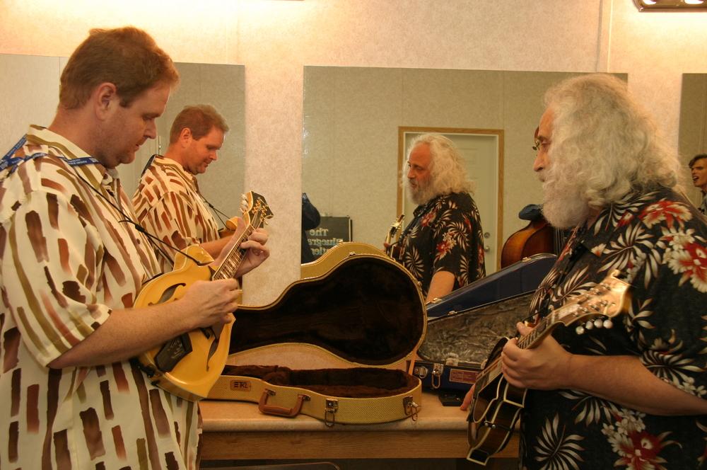 2008 - Don Rigsby & David Grisman backstage