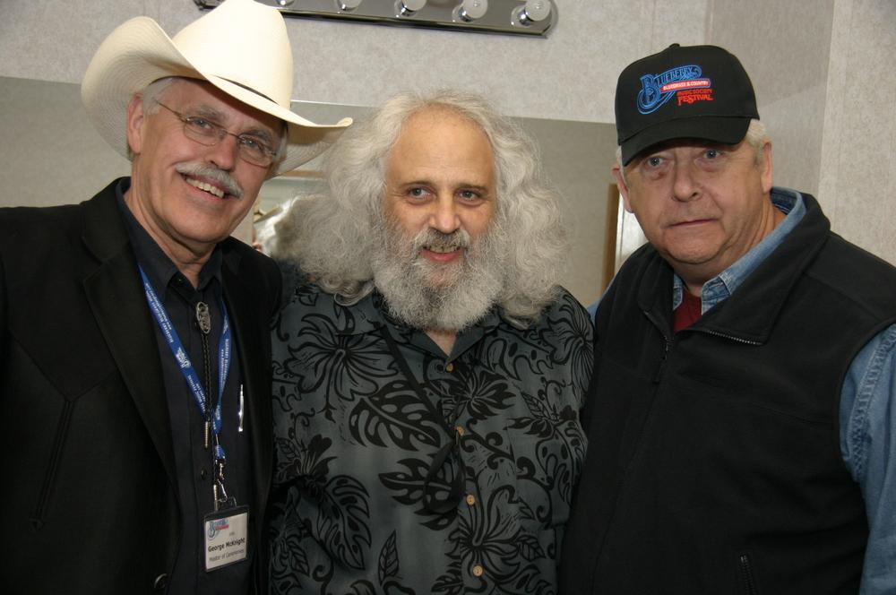 2008 - George McKnight, David Grisman & Blueberry President Norm Sliter