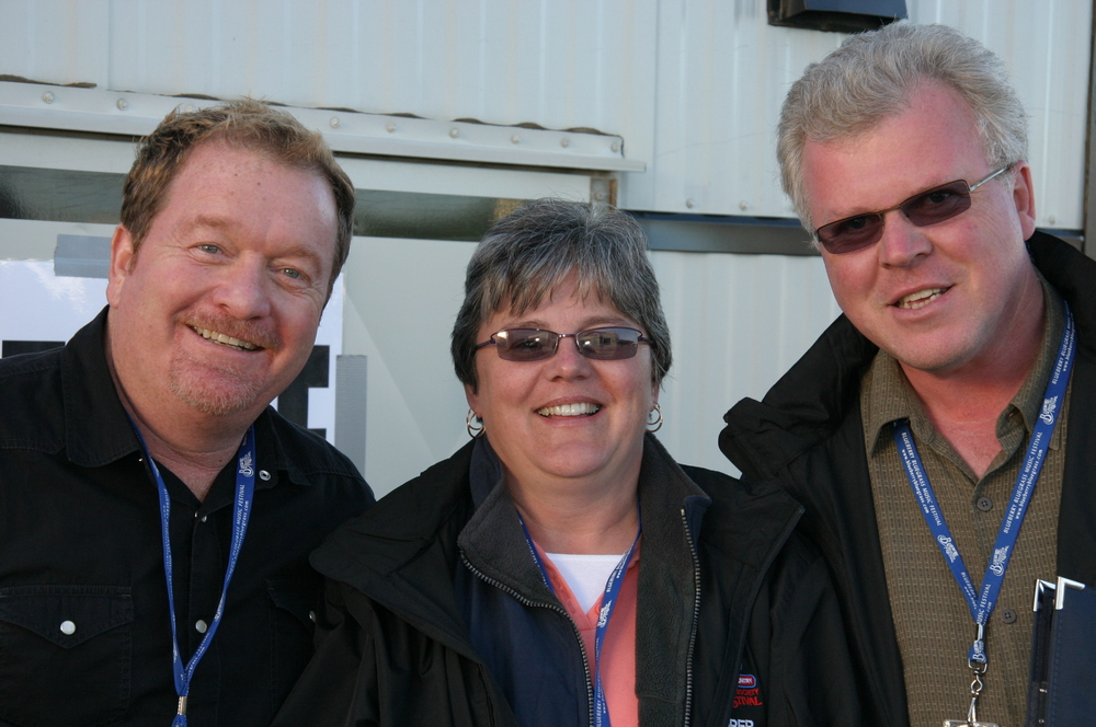 2008 - Lou Reid with Blueberry Treasuer Anne Glidden & Blueberry Entertainment Director Bob Glidden