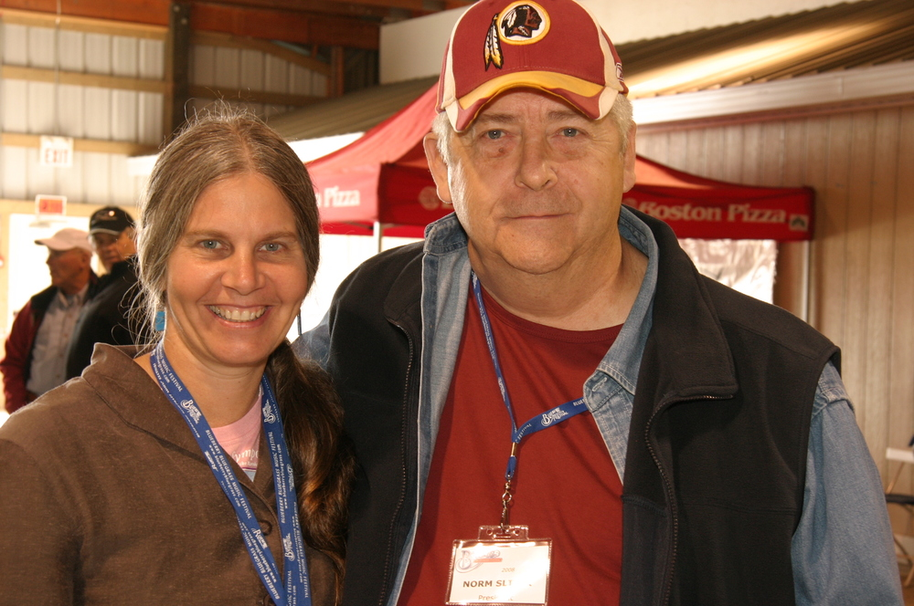 2008 - Tracy Grisman with Blueberry President Norm Sliter