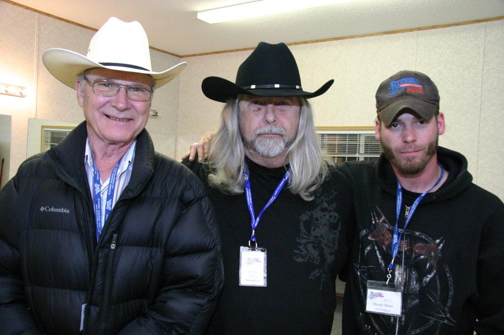 2011 - George Myren (Canadian Country Legends) with Blueberry President Norm Sliter & Volunteer Heath Sliter