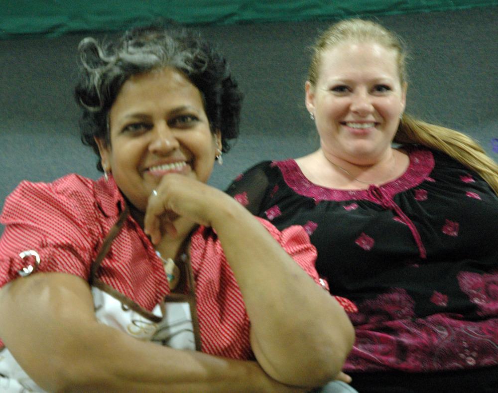 2012 - Green Room Volunteers Shirley & Nancy