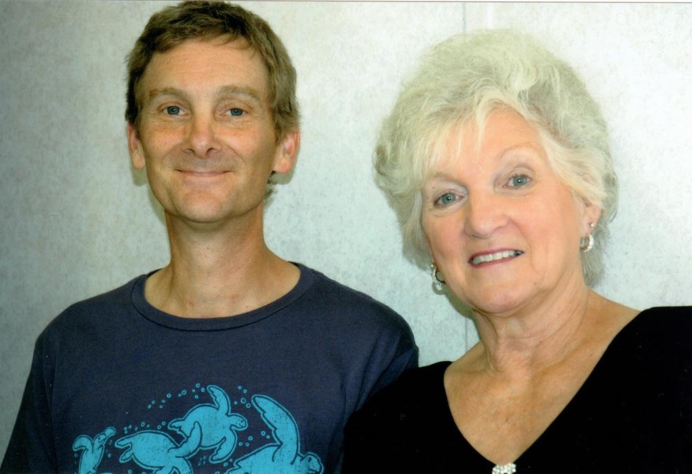 2012 - Blueberry workshop volunteer Jim Malmberg with Caroline Vincent