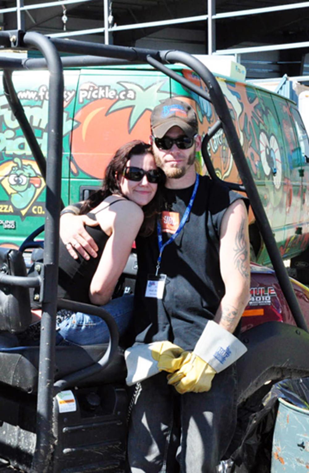 2011 - Volunteer Heath Sliter with his friend