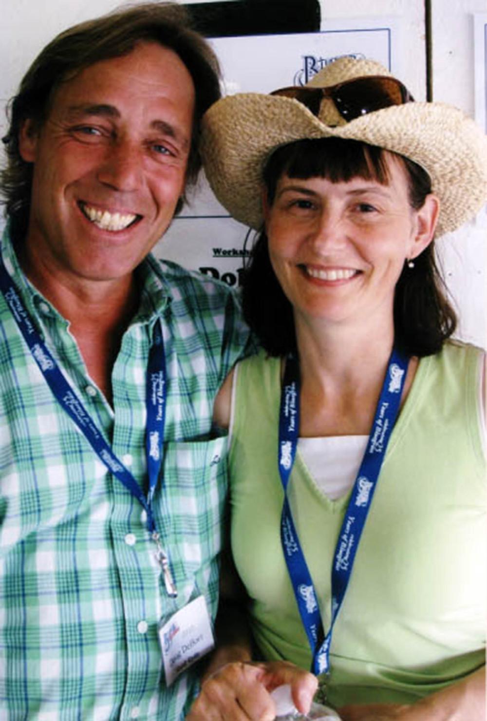 2010 - Doug DeBoer of Hard Ryde with Blueberry treasurer Sheila Hallett