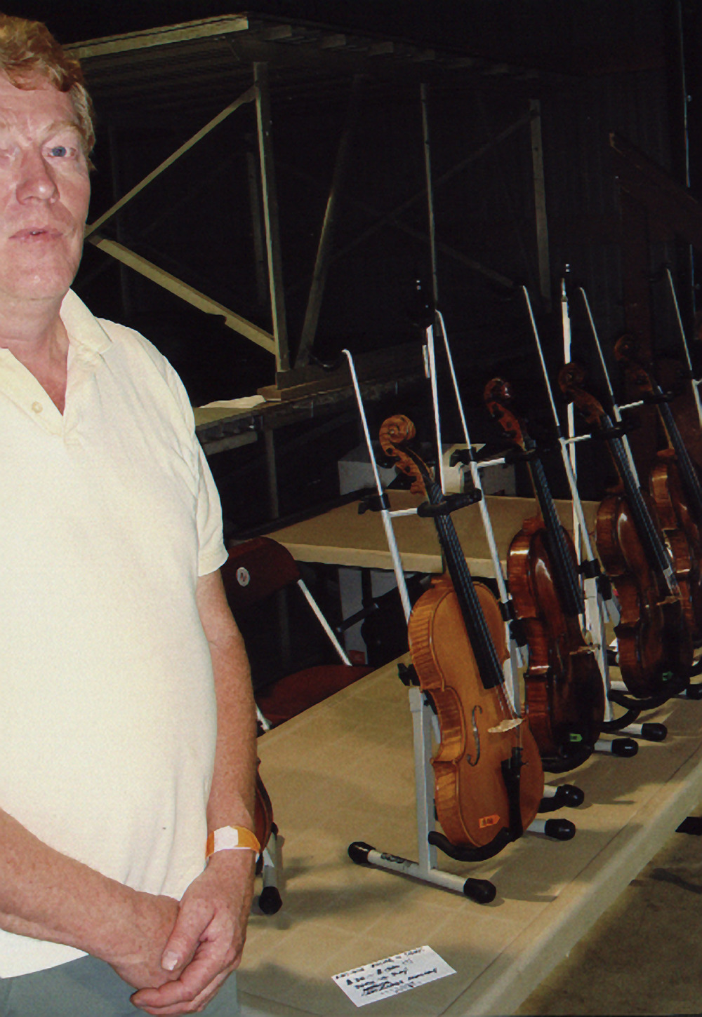 2007 - Mike with his fiddles for sale
