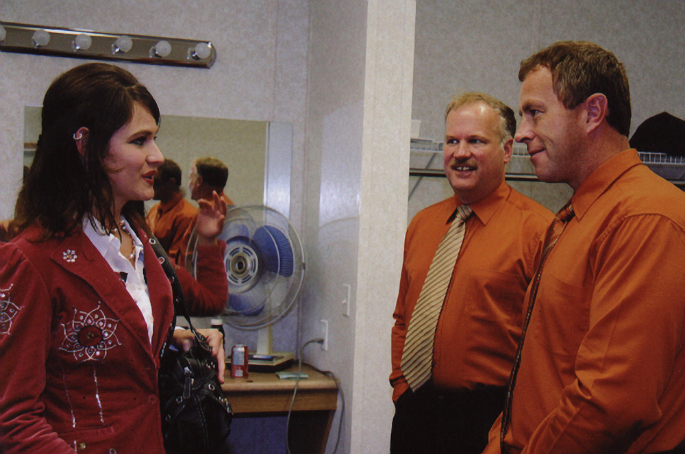2007 - Cia Cherryholmes, Terry Mumford & Allan Spinney backstage
