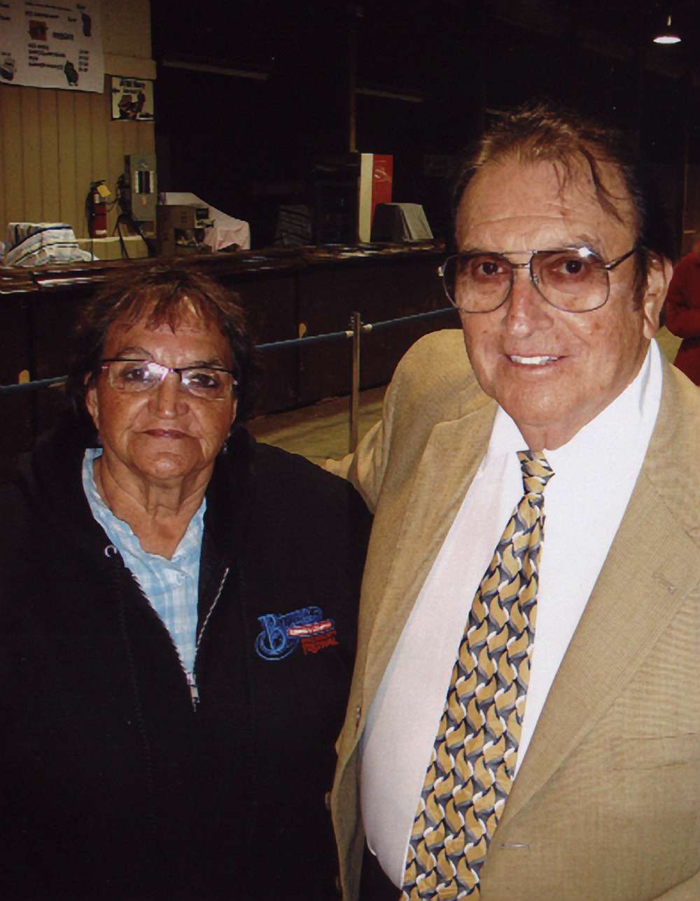 2007 - Mrs. Edna Sinclair with Bobby Osborne