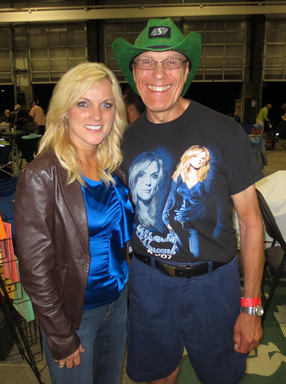 Rhonda with fan Gary Ballan