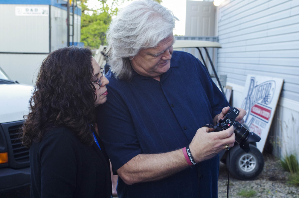 Sharon White & Ricky Skaggs backstage