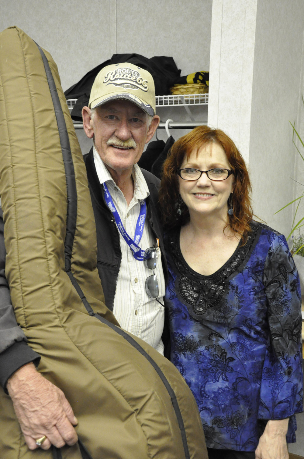 Volunteer Ian VanDusen with Cheryl White