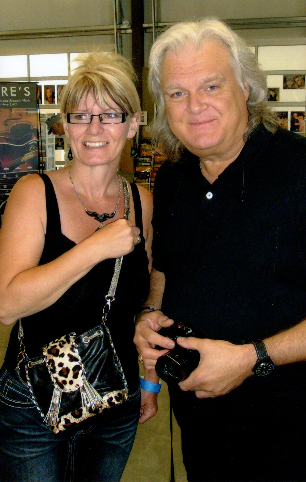 Ricky Skaggs with a fan
