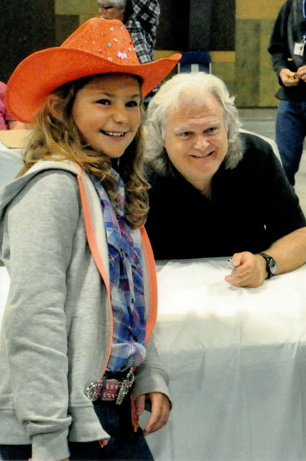 Ricky Skaggs with a young fan