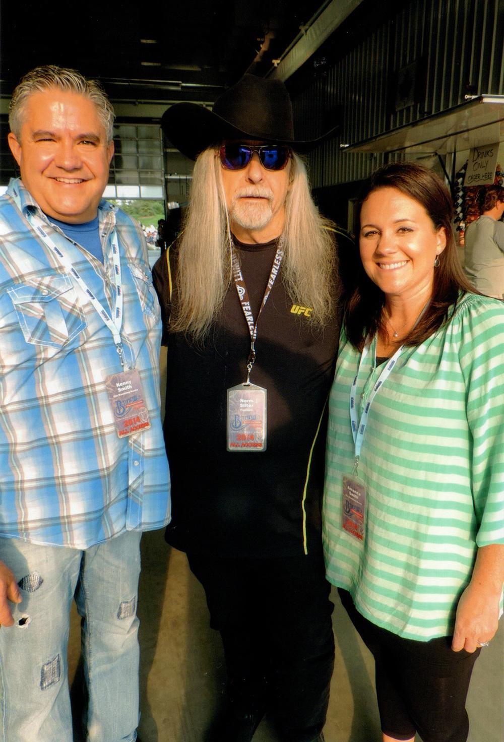 Kenny & Amanda Smith with Blueberry President Norm Sliter