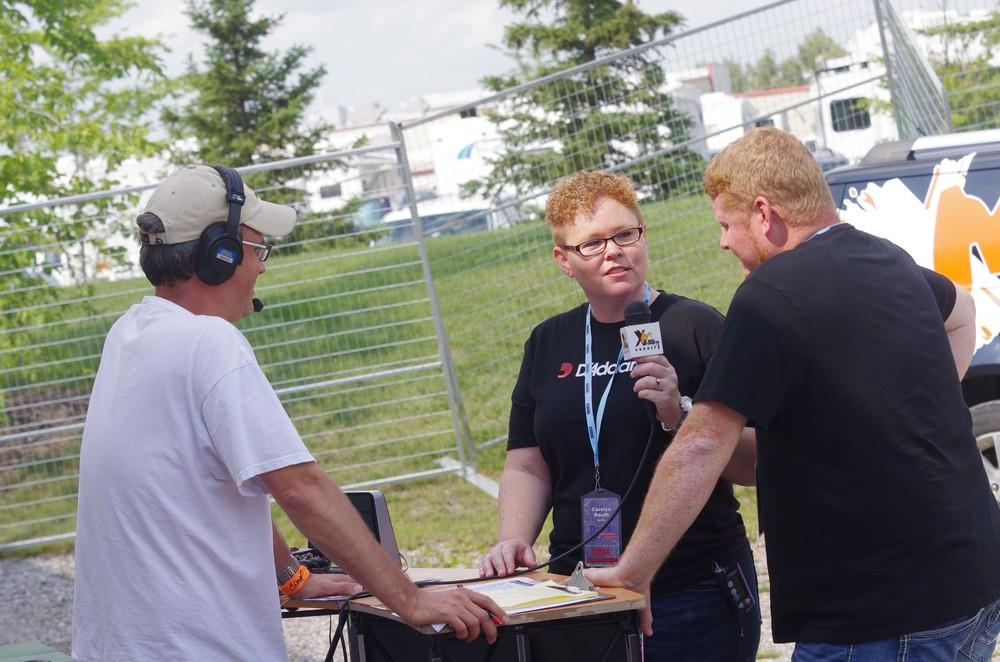 Carolyn & Daniel Routh doing a radio interview for XM105 Whitecourt