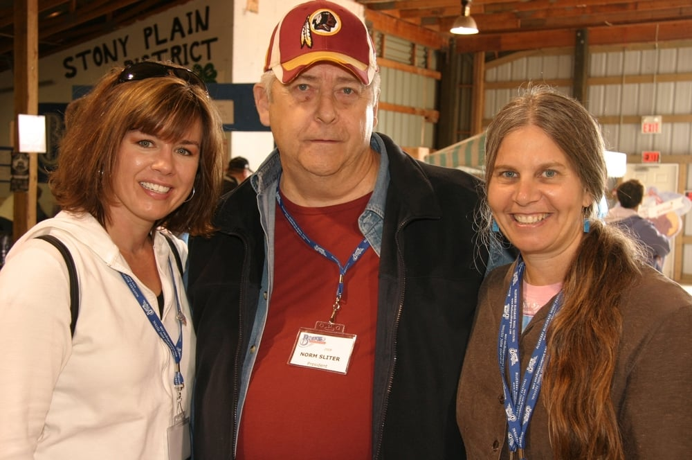 2008 - Christy Reid, Blueberry President Norm Sliter & Tracy Grisman