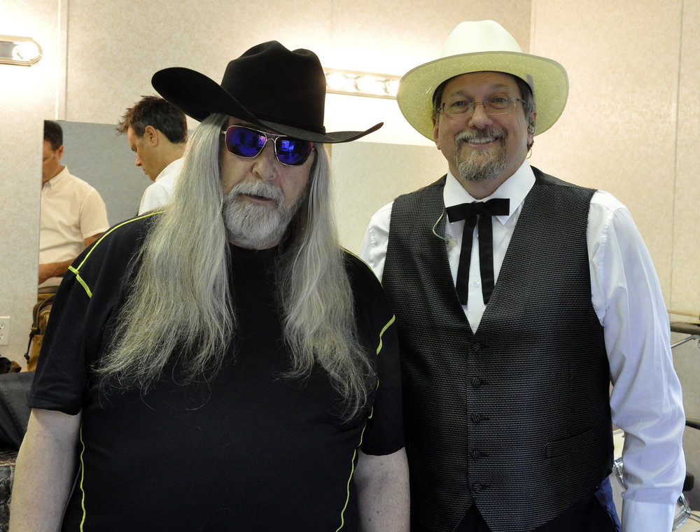 Blueberry President Norm Sliter with Jerry Douglas of The Earls of Leicester