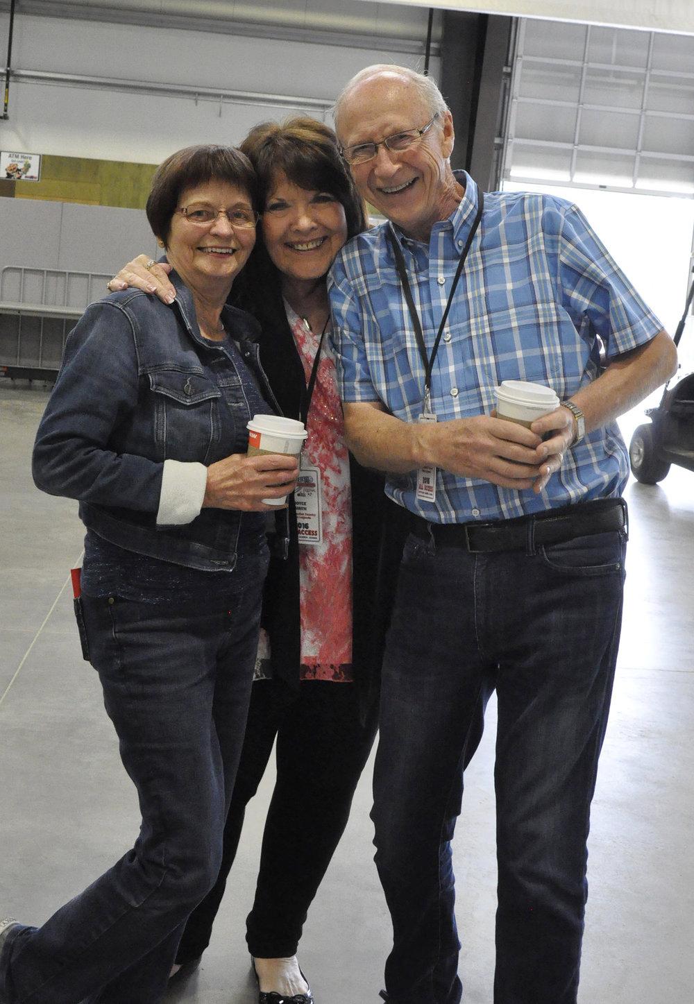 Alfie & Lydia Myhre with Joyce Smith