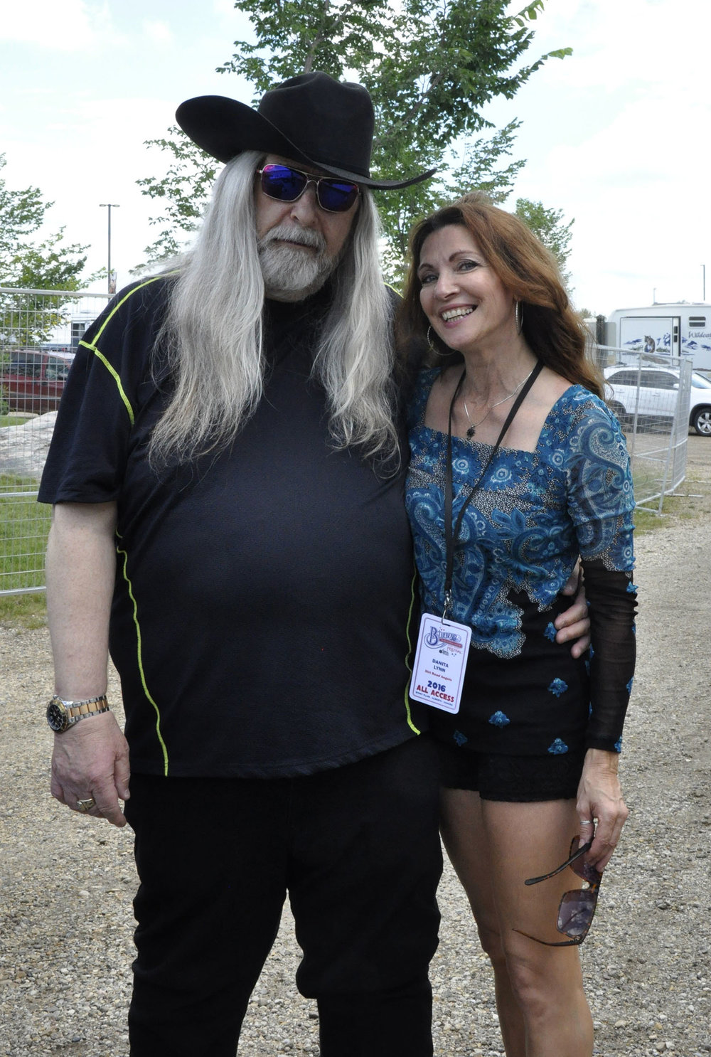 Blueberry President Norm Sliter with Danita Lynn of The Dirt Road Angels