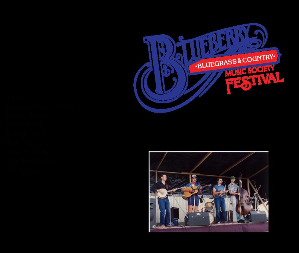 1988, 1989 & 1990 Blueberry Bluegrass Festival Lineup