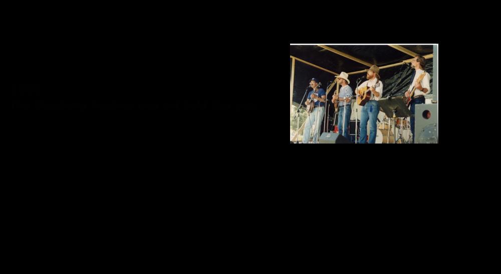 1985, 1986 & 1987 Blueberry Bluegrass Festival Lineup