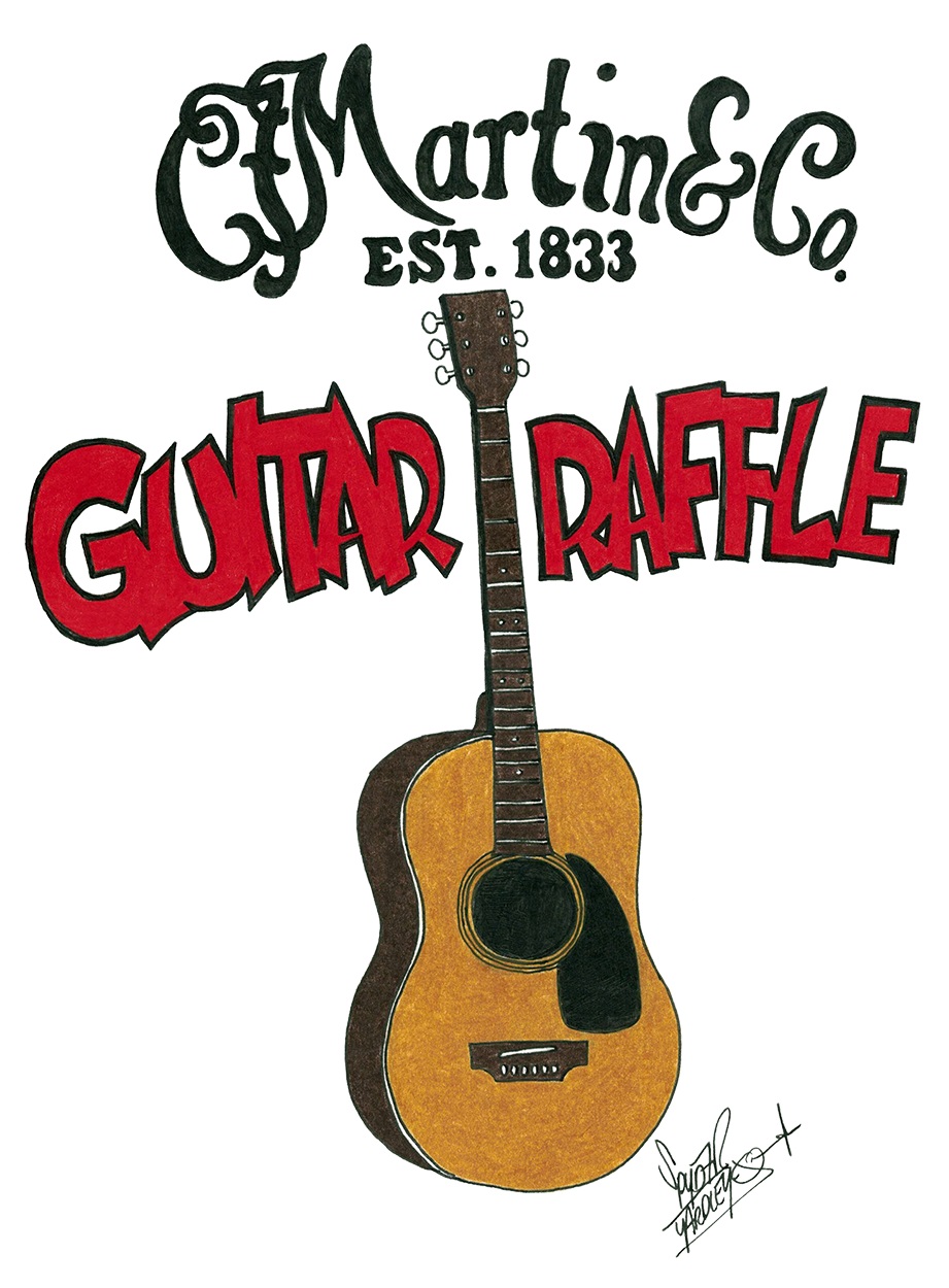 Blueberry Martin Guitar Raffle