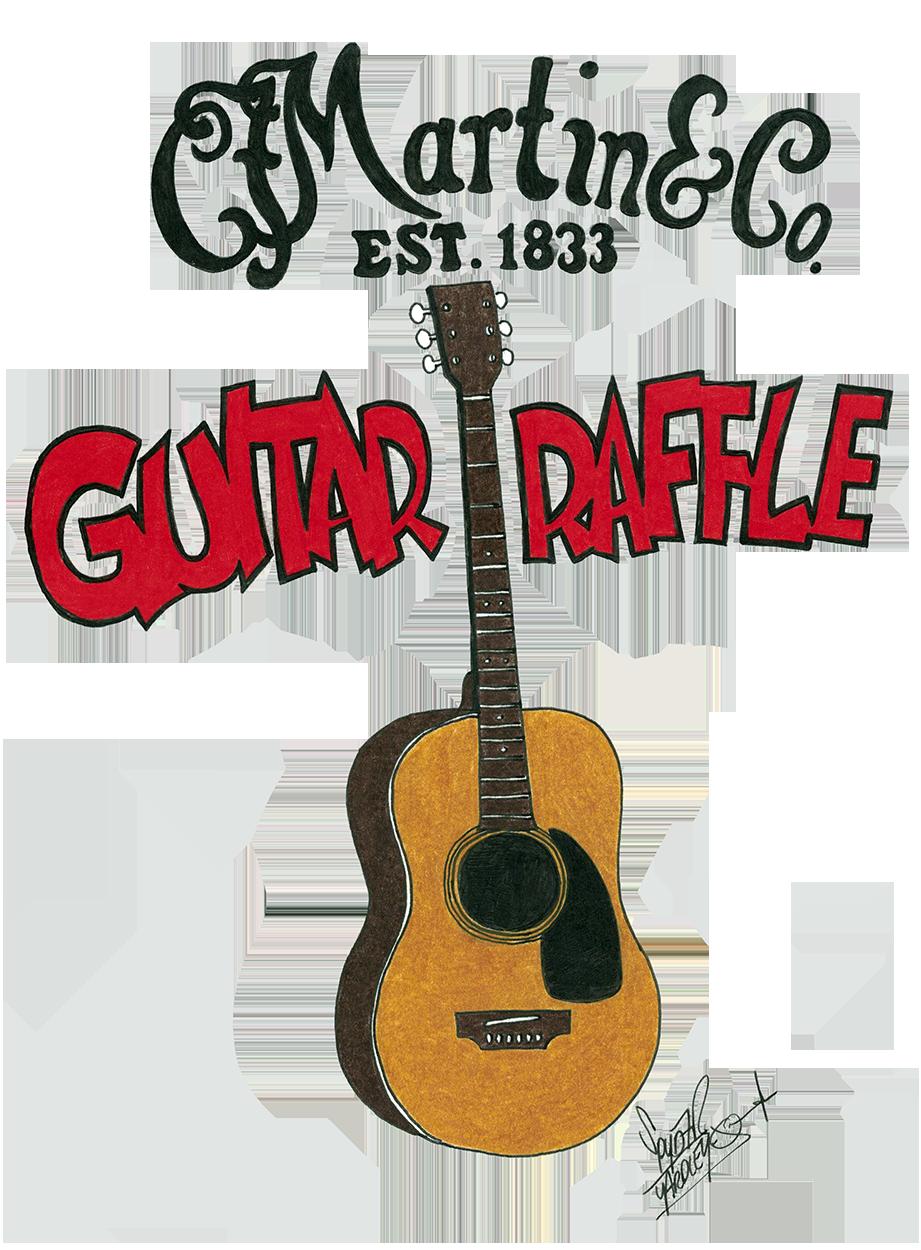 Blueberry Martin Guitar Raffle