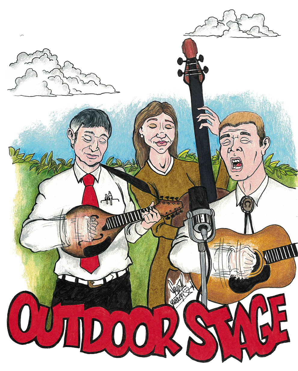 Blueberry Bluegrass Festival Outdoor Stage