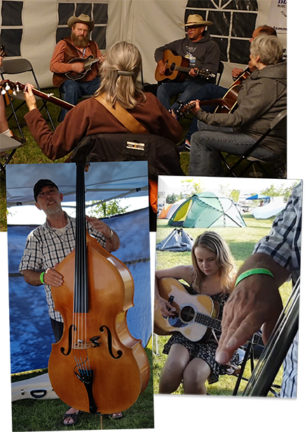 Blueberry Bluegrass Festival - Jamming