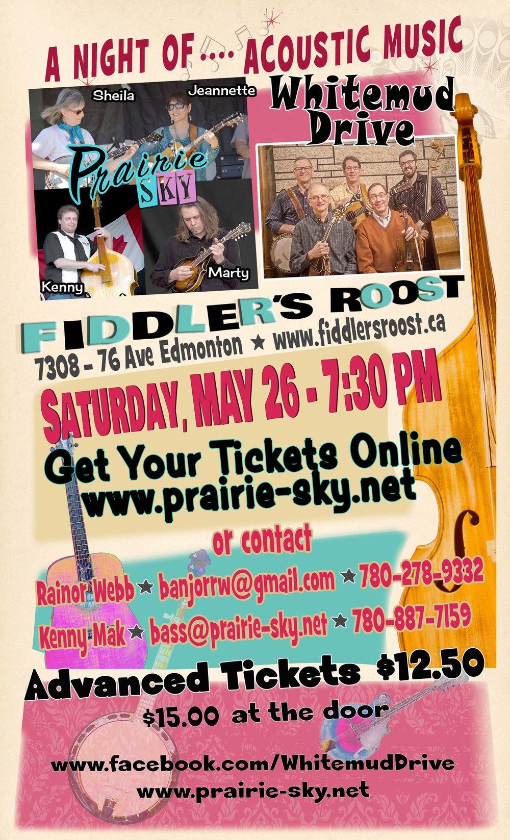 Blueberry Bluegrass Festival - Prairie Sky & Whitemud Drive Concert