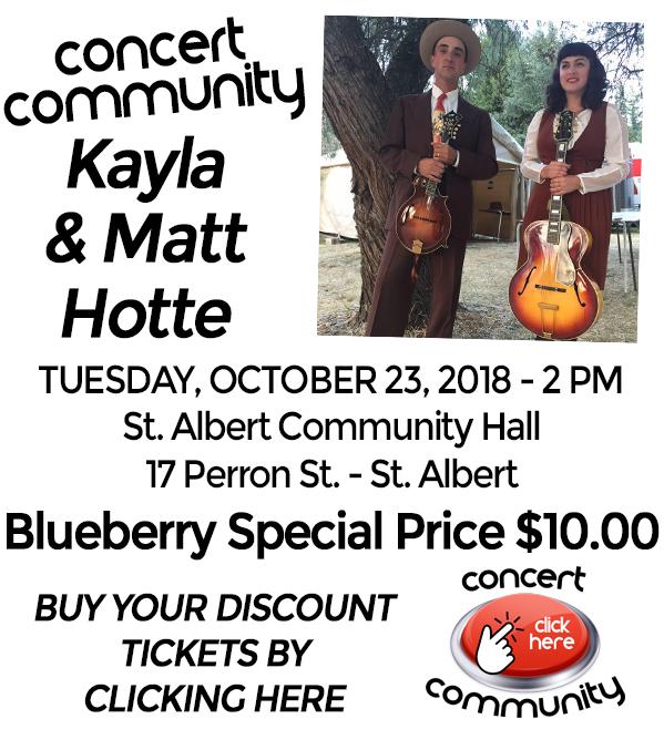 Blueberry Bluegrass Festival - Kayla & Matt Hotte