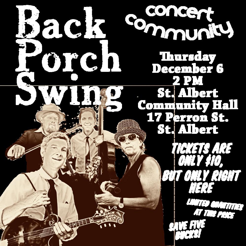 Blueberry Bluegrass Festival - Back Porch Swing