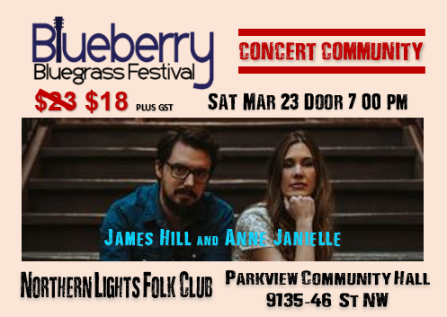 Blueberry Bluegrass Festival - James Hill & Anne Janelle