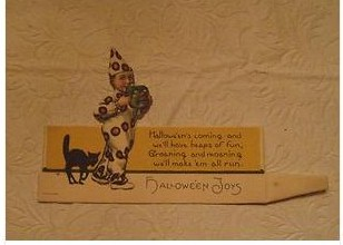Vintage Halloween Place Card  Mint