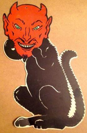 Vintage Pulp Black Cat Halloween Germany