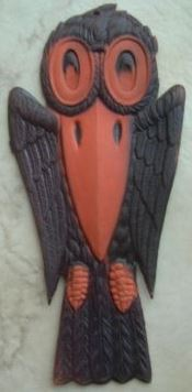 vintage die cut black crow halloween decoration 75 germany halloween collectorcom - Vintage Halloween Decorations For Sale