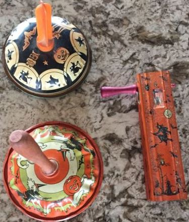 vintage halloween noisemakers t cohn kirchhof us metal toy halloween collectorcom