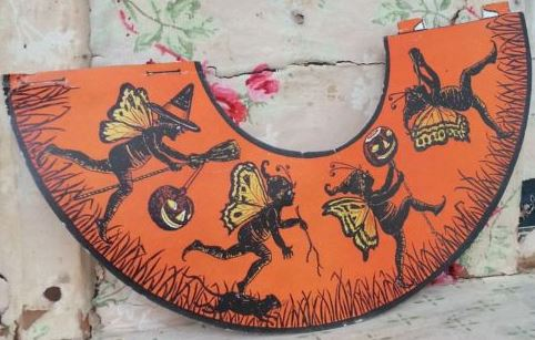 1920s beistle pixie halloween lamp shade cover from vintage die 1920s beistle pixie halloween lamp shade cover from vintage die cut party set halloween collector aloadofball Images