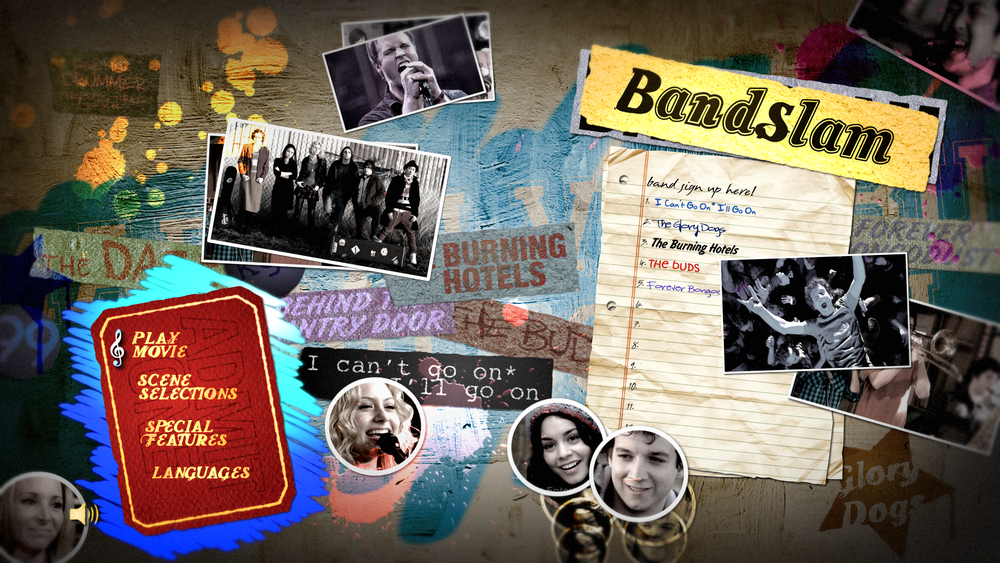 """Bandslam"" - Blu-Ray menu design."