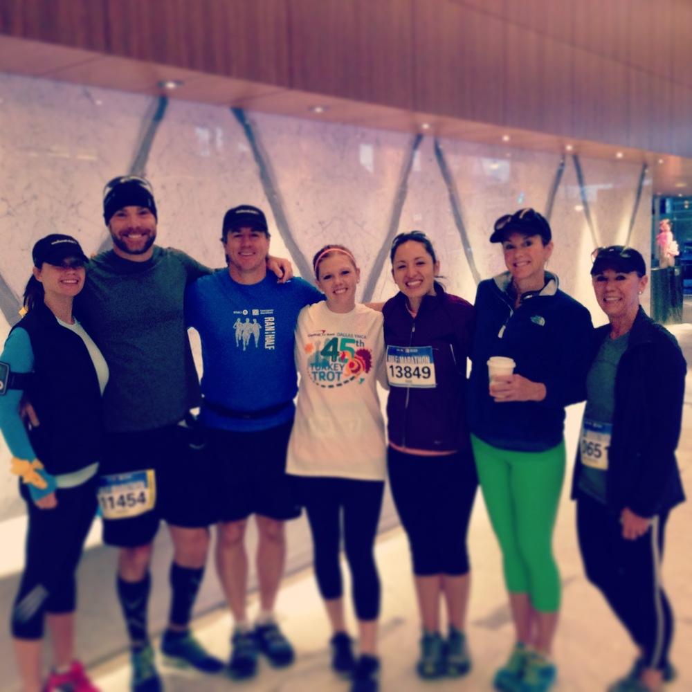 Half marathoners from left: Amber McGurren, Marc McGurren, Paul Vrana, Kara Bufford, Isis Hargrave, Devon Vrana, Mo Doss