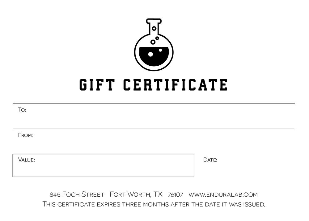Enduralab Gift Card Enduralab