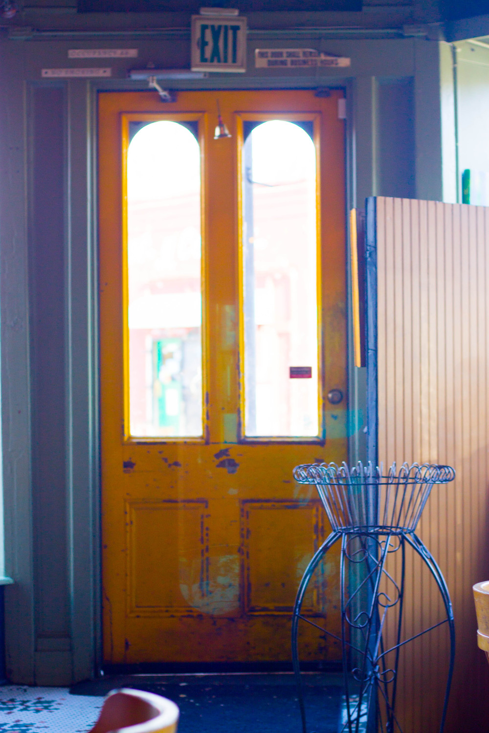 Front Door at Blue Bird Bistro