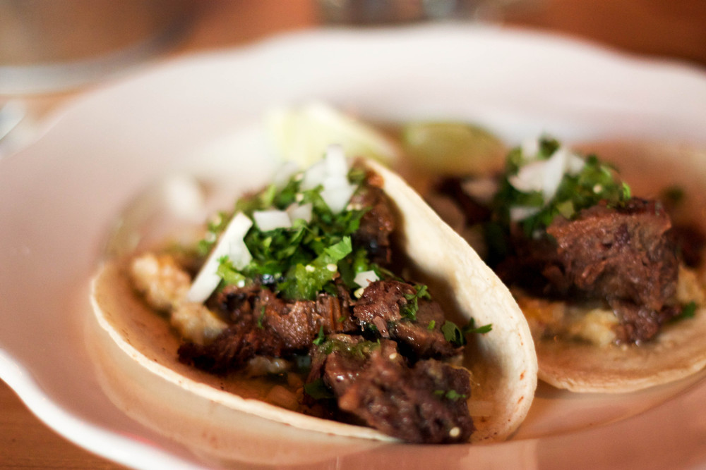Braised Beef Tongue Tacos at Port Fonda