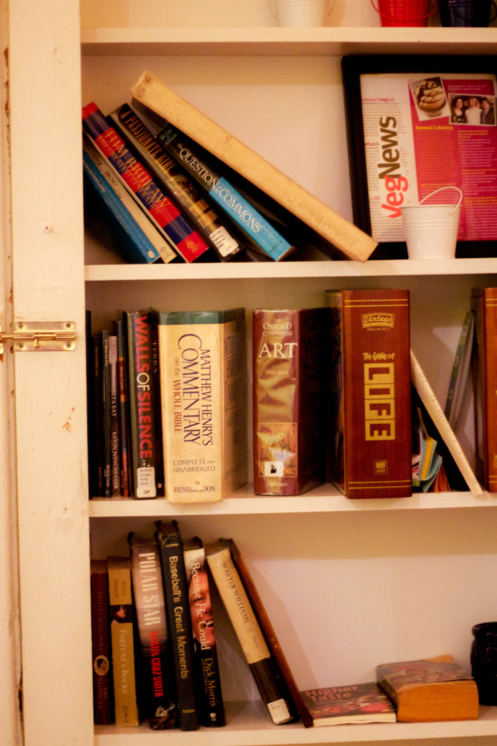 Bookshelf at Mud Pie