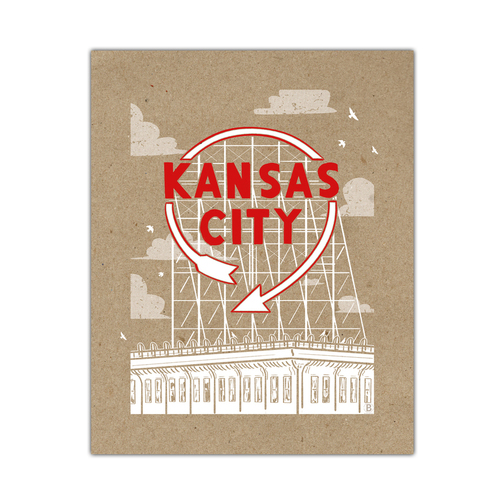 Kansas City Auto Sign Screen Printed Poster