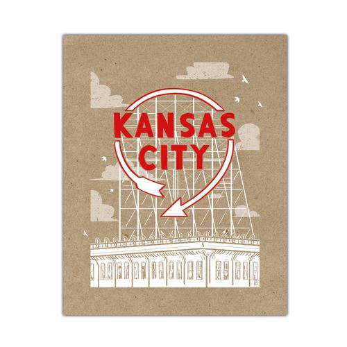 Kansas City Auto Sign Screen Printed Poster