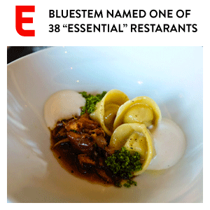 "KC Bluestem Named ""Essential"" Restaurant"